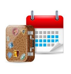 Vacation icon vector