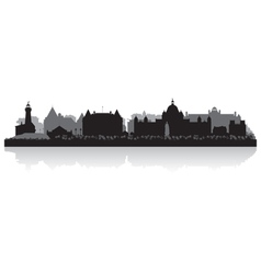 Victoria Canada city skyline silhouette vector