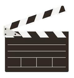 Video cinema movie clapper object logo icon vector