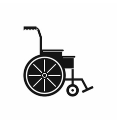 Wheelchair icon simple style vector