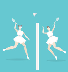 young woman playing tenis female for cartoon web vector image