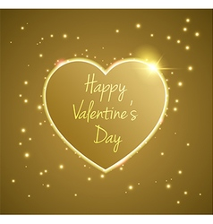 Gold Heart valentines day vector image vector image
