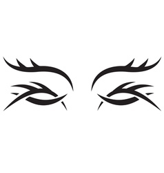 Gothic pattern eyes vector image vector image