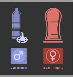 condoms set image vector image