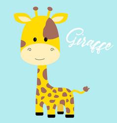cute giraffe isolated vector image