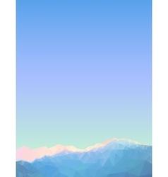 Geometric triangular mountain landscape vector