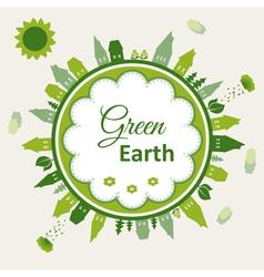 Green earth concept vector