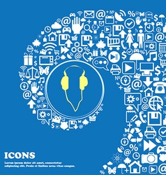 headphones sign icon Nice set of beautiful icons vector image