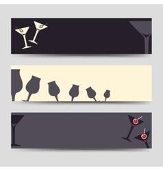 Horizontal banners drinks set vector image