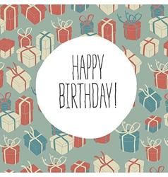 retro happy birthday card vector image vector image