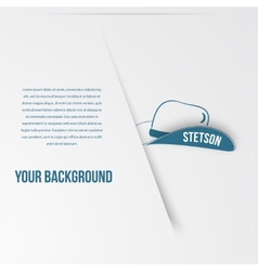 Abstact hat template Corporate icon vector image vector image