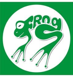 animals logo frog vector image