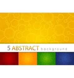 Set of 5 colorful abstract medical background vector image vector image