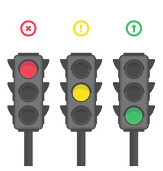 traffic light icons vector image