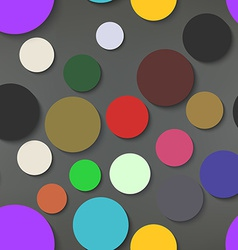 Abstract Colorful Circles Seamless Pattern vector image