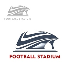 Abstract modern sports stadium icon vector image