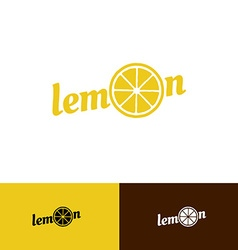 Lemon word logo vector image vector image