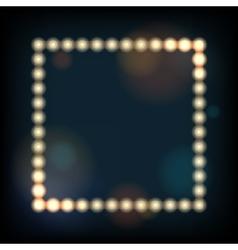 Retro Frame with Lighting bulbs vector image
