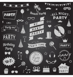 Set of party icons signs and symbols vector image vector image