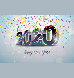 2020 happy new year with 3d number vector