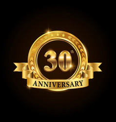 30 years anniversary celebration logotype vector
