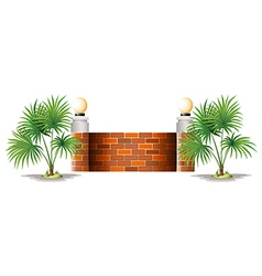 A barricade made of bricks vector