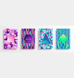 abstract color background set for creative design vector image