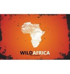 Africa logo wild design poster vector
