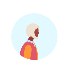 african american old man profile avatar elderly vector image