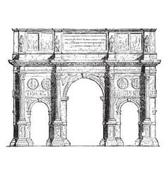 Arch of constantine triumphal arches vintage vector