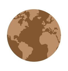 Arid planet earth icon vector