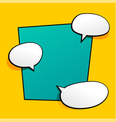 background with comic chat bubble vector image
