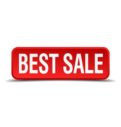 Best sale red three-dimensional square button vector
