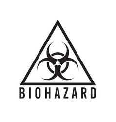 biohazard sign isolated vector image