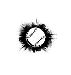 Black grunge baseball frame background vector