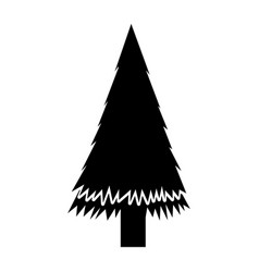 Black icon christmas tree cartoon vector