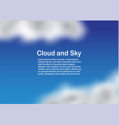 Blue cloudy sky with copy space for text vector