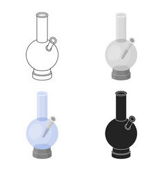 Bong icon in cartoon style isolated on white vector