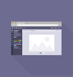 Browser flat icon7 vector