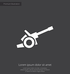 Cannon premium icon vector
