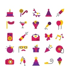 Celebration Party Icons Set vector image