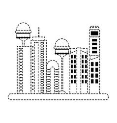 cityscape futuristic buildings icon vector image
