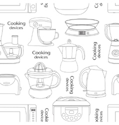 Cooking devices pattern vector
