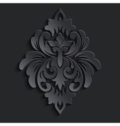 damask volumetric element Dark volumetric vector image