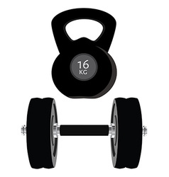 Dumbell set vector image