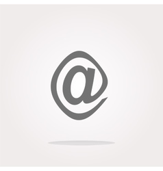 E-mail icon glossy button vector image