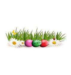 Easter clip art for greeting card with colored vector