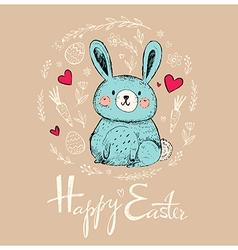 Easter greeting car vector