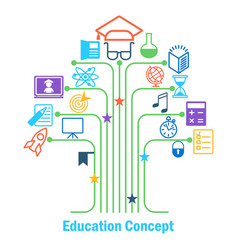 Educatioln concept tree vector