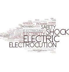 Electrocution word cloud concept vector